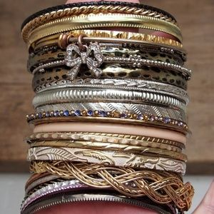 Fun Bundle of 30 Boho Stackable Bangles!